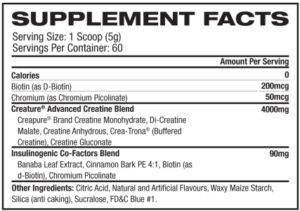 Creature Creatine Label