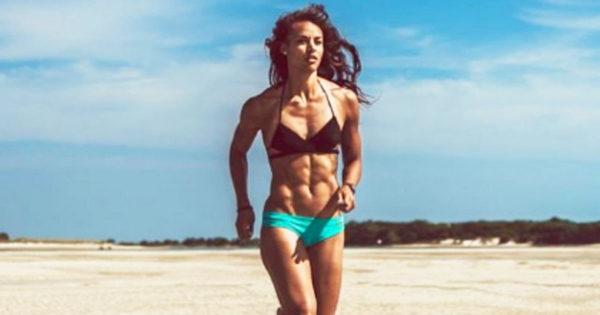 Hot girl running